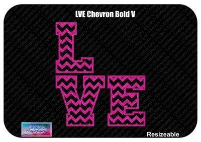 Chevron LVE Bold Vinyl 1 Color