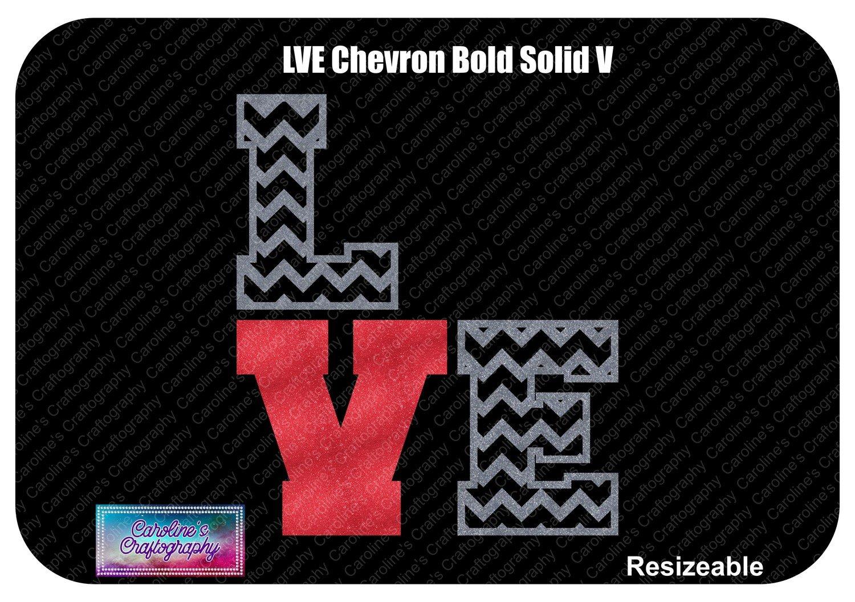Chevron LVE Bold Solid V Vinyl