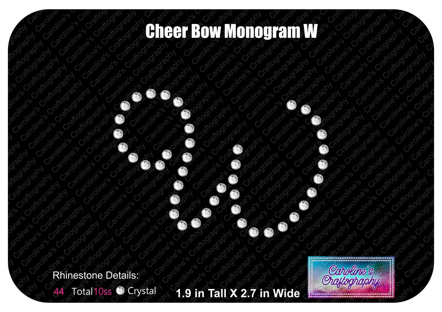 W Monogram Cheer Add-on Stone