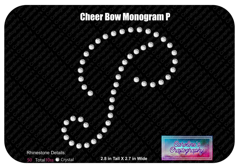 P Monogram Cheer Add-on Stone