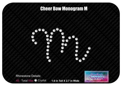 M Monogram Cheer Add-on Stone