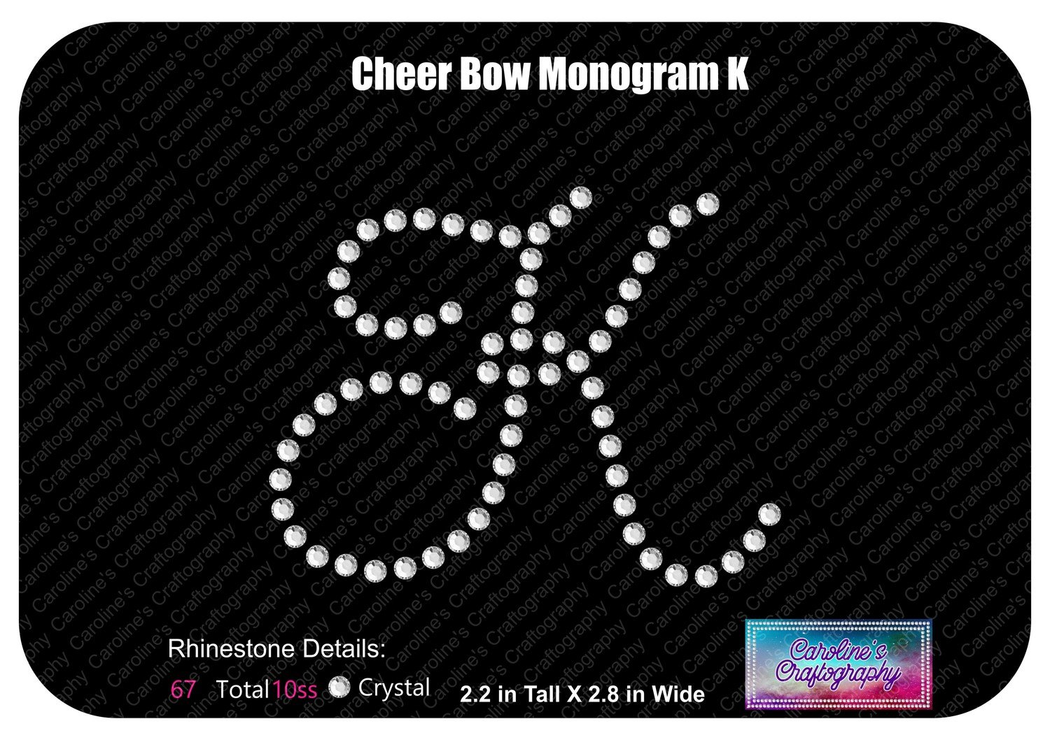 K Monogram Cheer Add-on Stone