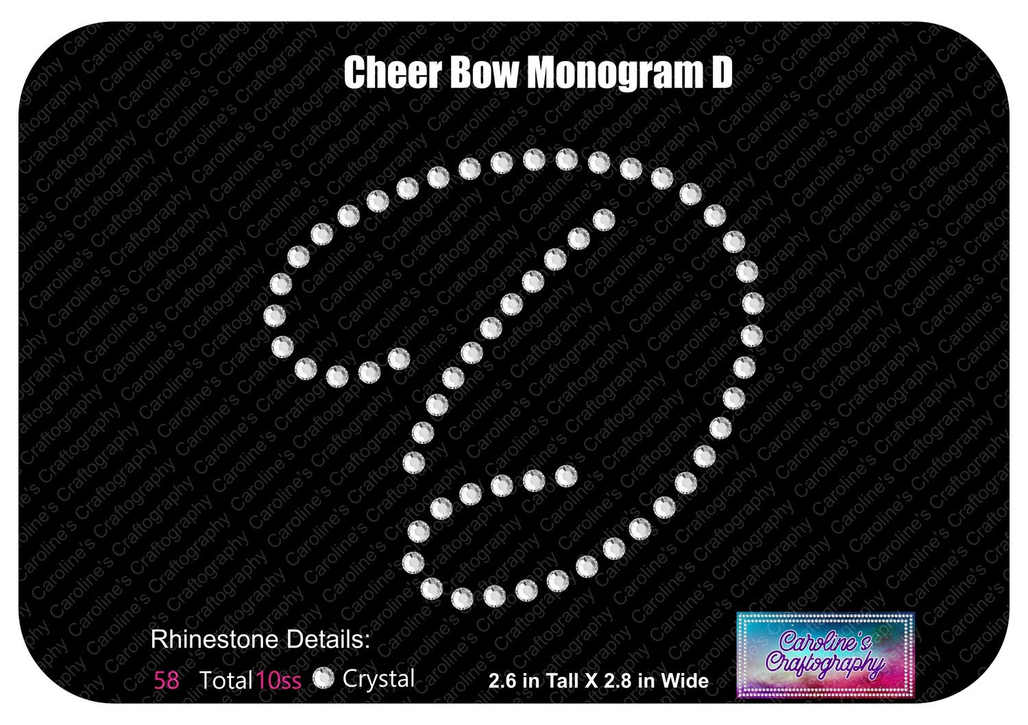 D Monogram Cheer Add-on Stone