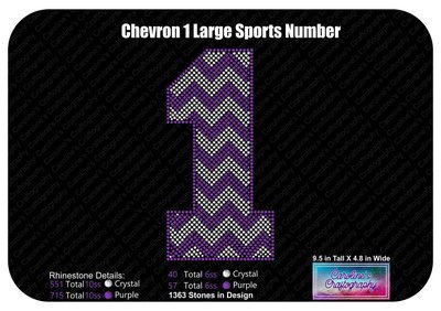 1 Chevron Large Sports Number