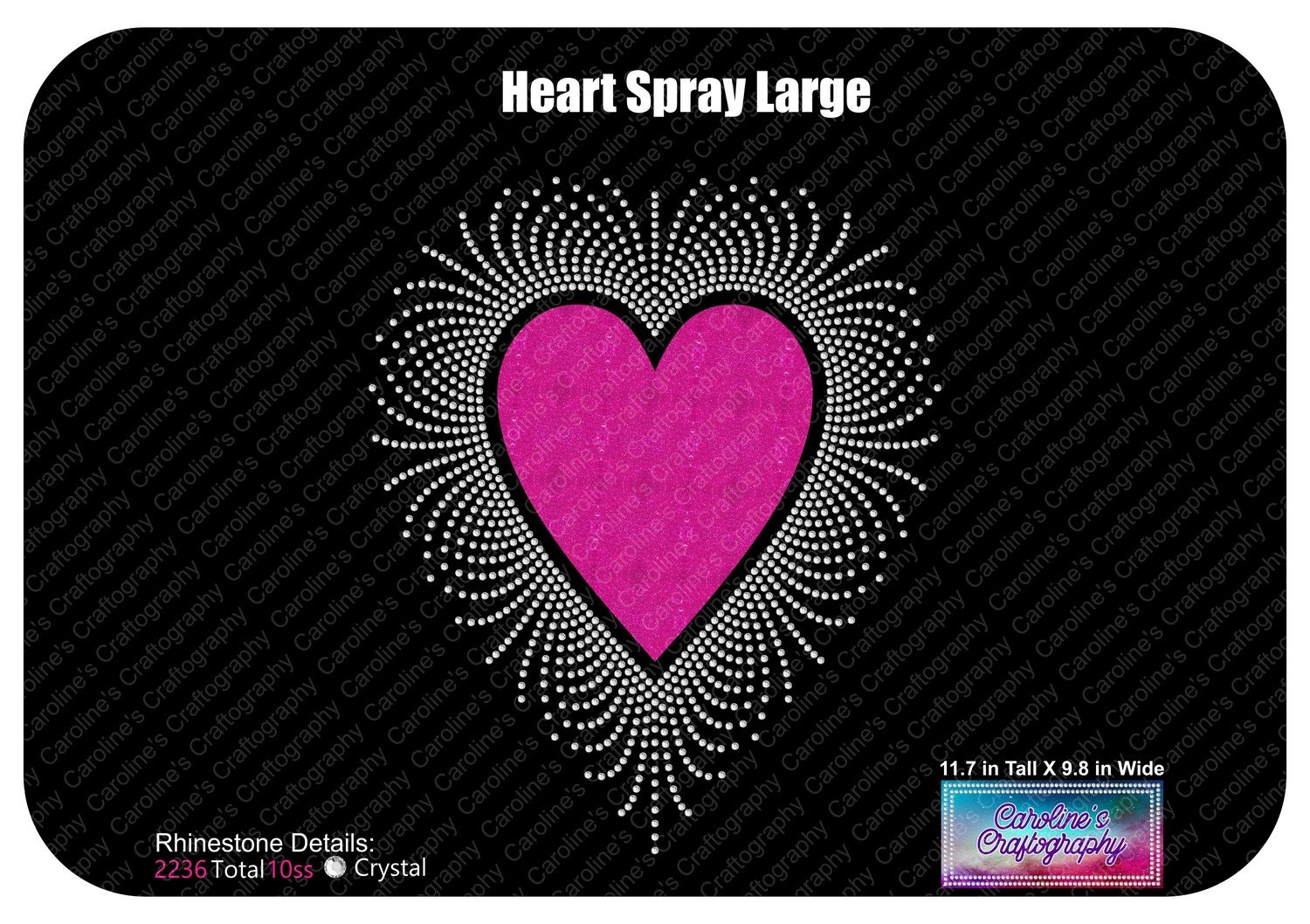 Heart Spray Large Stone Vinyl