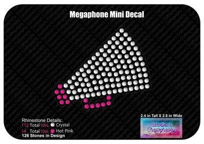 Megaphone Mini Decal Rhinestone