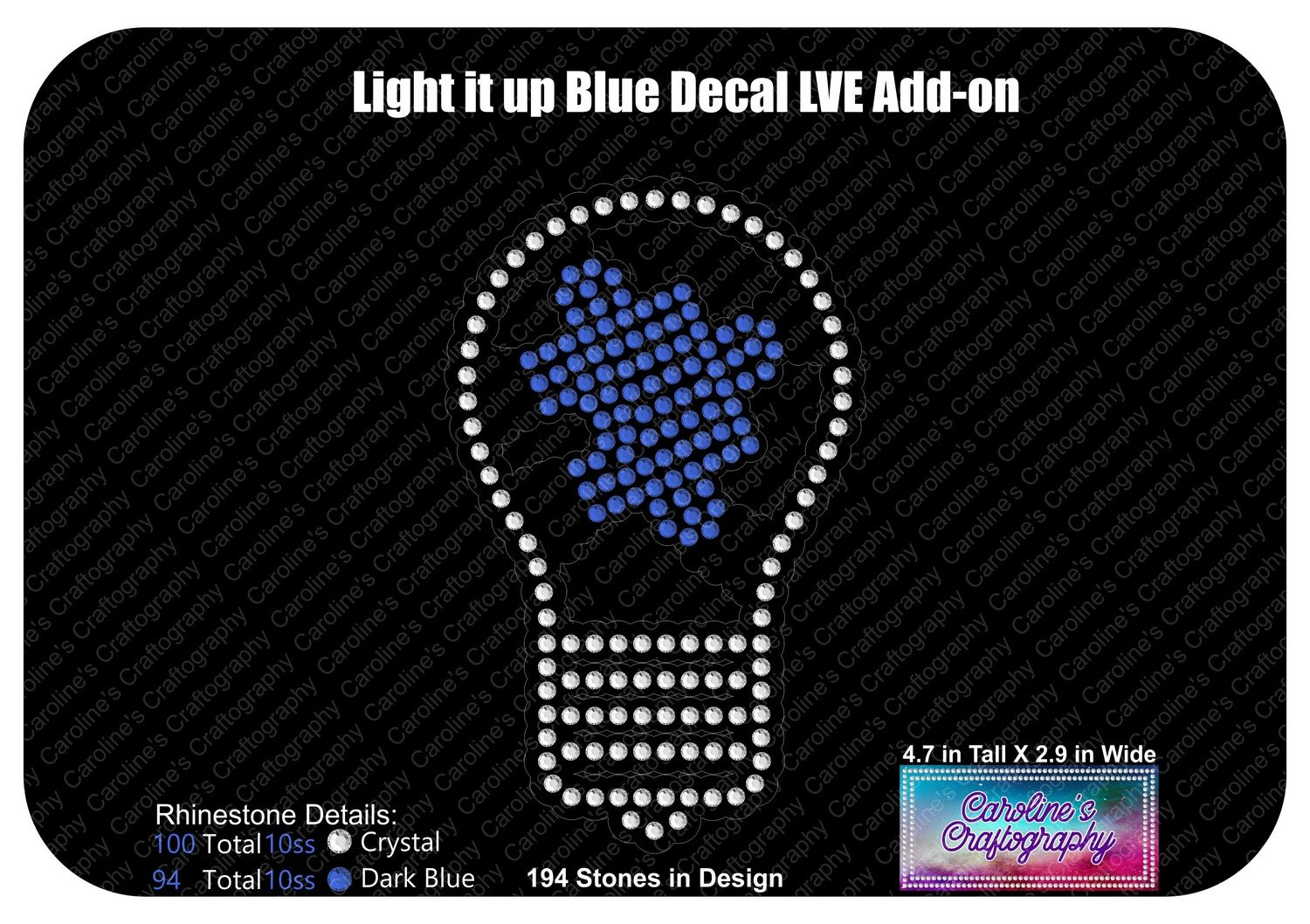 Autism Puzzle Piece Light Bulb Decal LVE Add-on