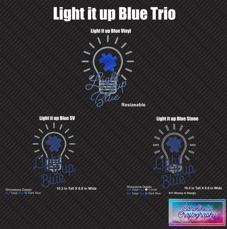 Autism Light it up Blue Trio