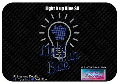 Autism Light it up Blue Stone Vinyl