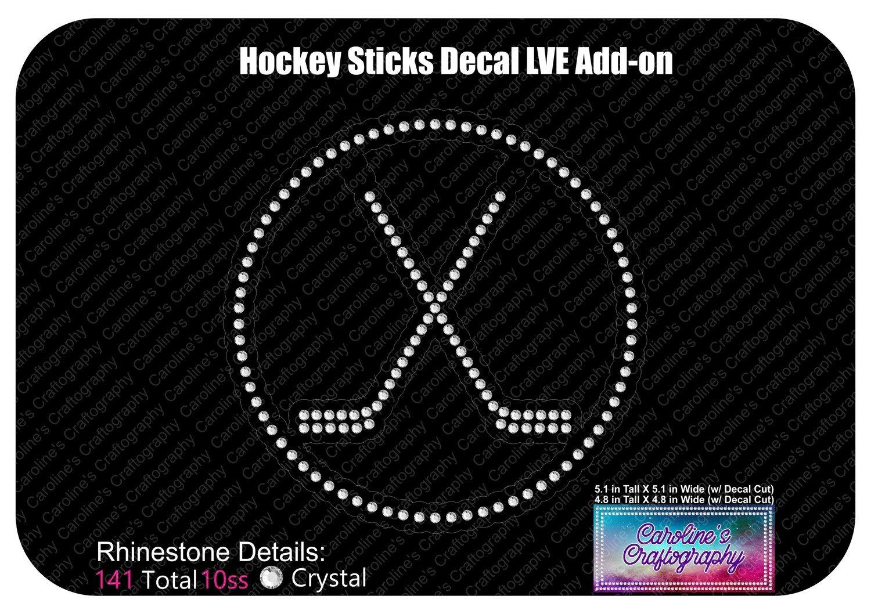 Hockey Sticks Decal LVE Add-on Rhinestone