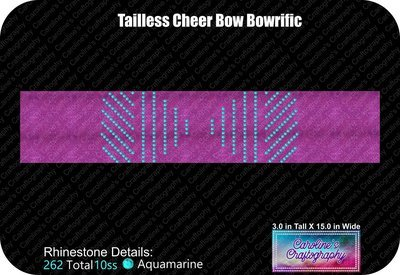 Tailless Cheer Bow Bowrific Rhinestone