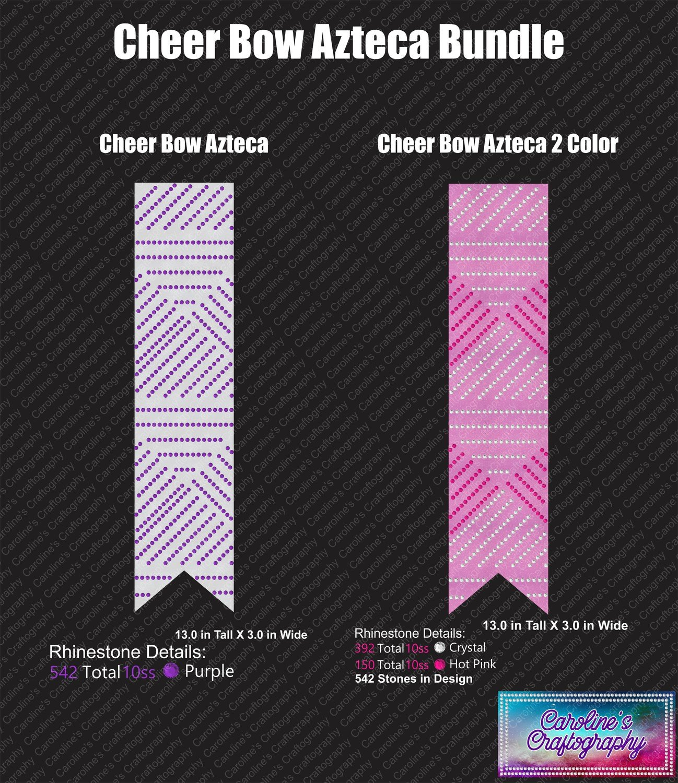 Cheer Bow Azteca Rhinestone Bundle