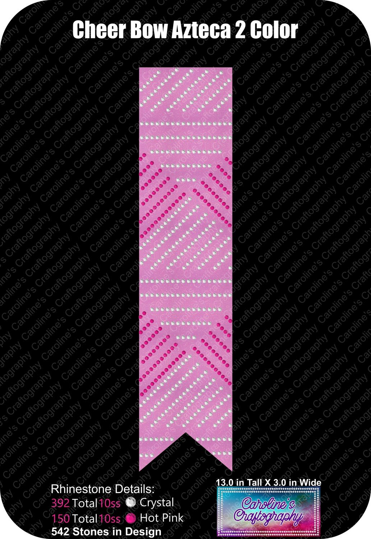 Cheer Bow Azteca Rhinestone 2 Colors