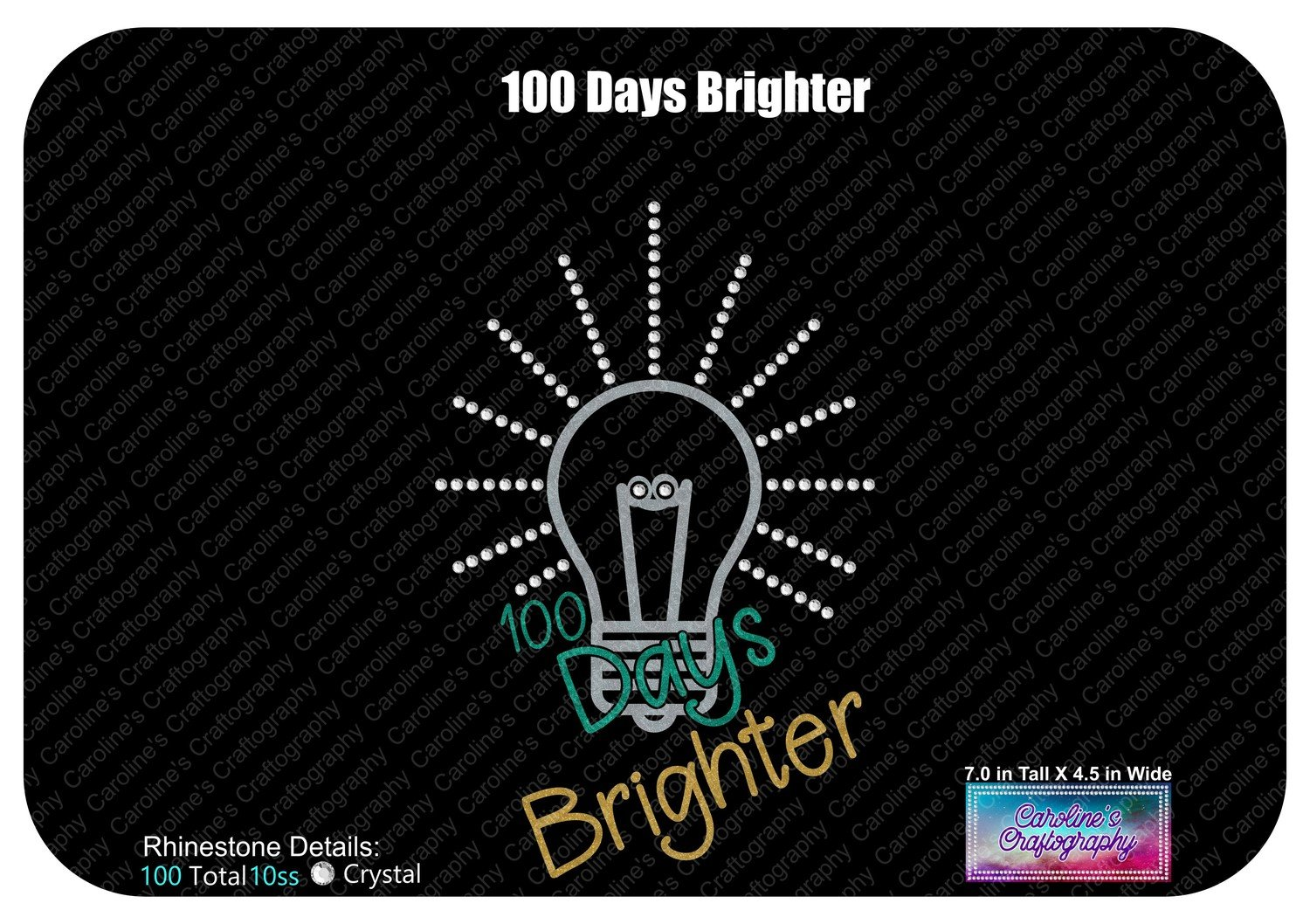100 Days Brighter (100 Days of School) Stone Vinyl