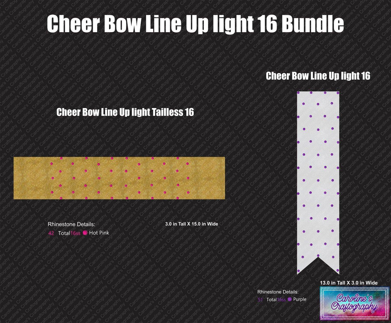 Cheer Bow Line Up Light 16 Bundle