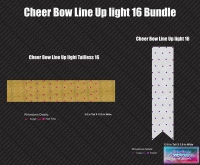 Cheer Bow Line Up Light 16 Bundle
