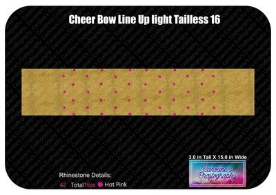Tailless Cheer Bow Line Up Light 16