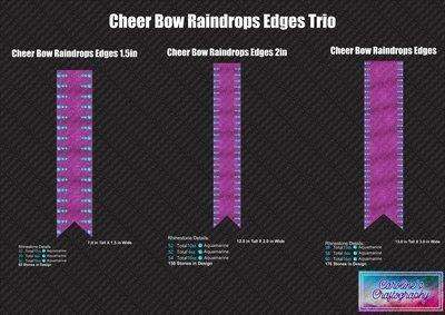 Cheer Bow Raindrops Edges Trio