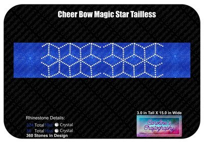 Tailless Cheer Bow Magic Star Stone