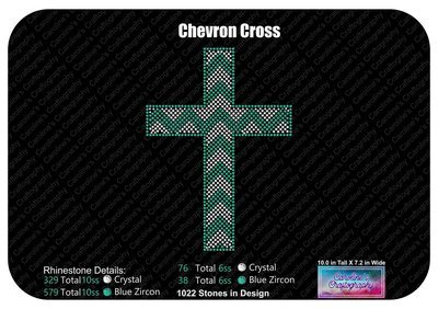 Chevron Cross Rhinestone
