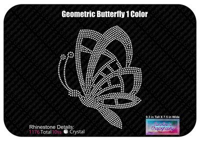 Geometric Butterfly Rhinestone 1 Color