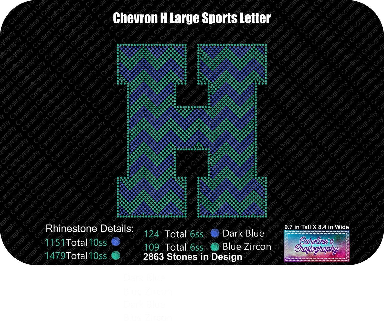 H Chevron Large Sports Letter