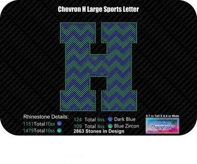 H Chevron Large Sports Letter