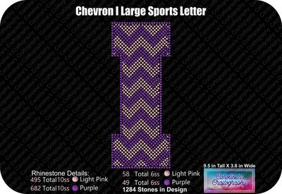 I Chevron Large Sports Letter