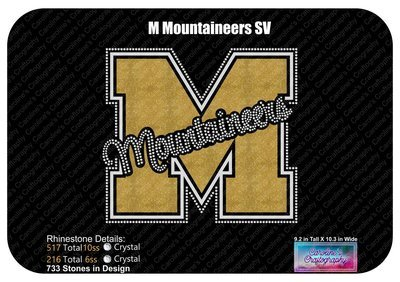 M Mountaineers Stone Vinyl