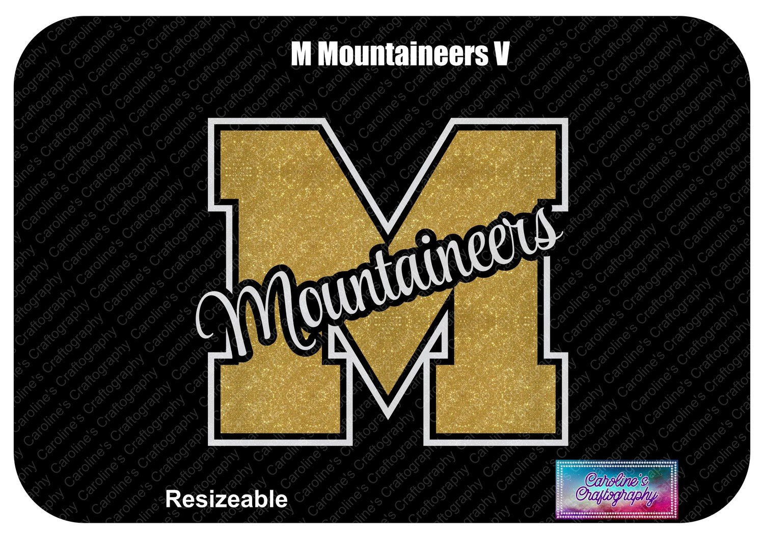 M Mountaineers Vinyl