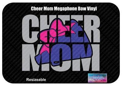 Cheer Mom Megaphone Bow