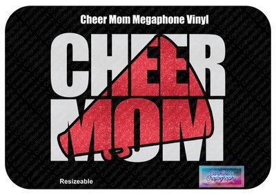 Cheer Mom Megaphone Vinyl (No Bow)
