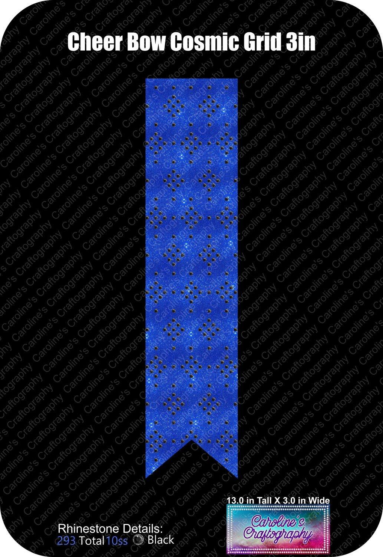 Cheer Bow Cosmic Grid 3in
