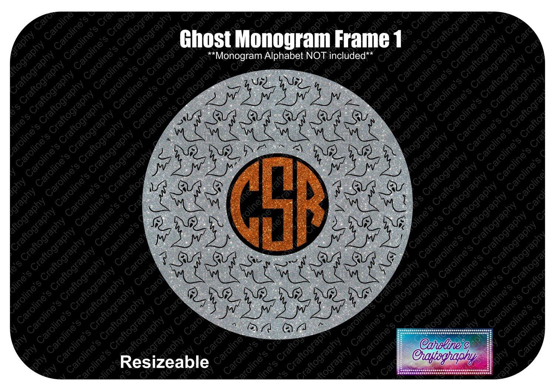 Ghost Monogram Frame 1 Vinyl
