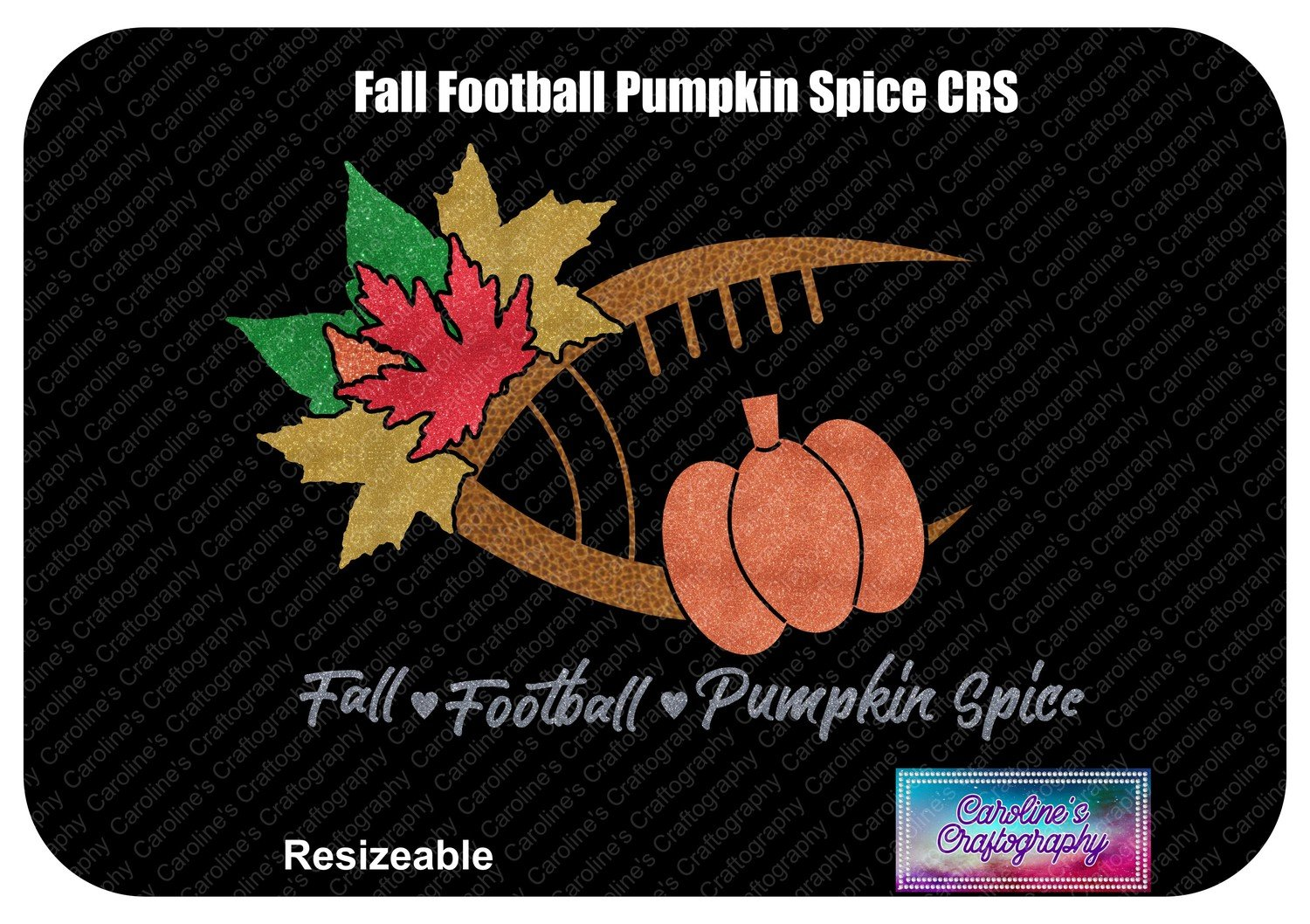 Fall Football Pumpkin Spice Vinyl