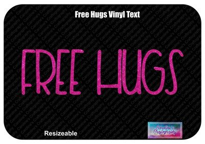 Free Hugs Vinyl Text Bow Add-on