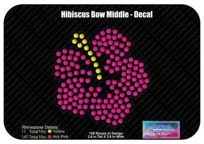 Hibiscus Decal and Cheer Bow 3D Add-on
