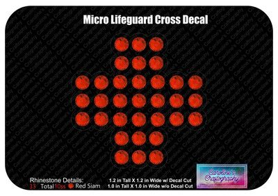Micro Lifeguard Cross Decal