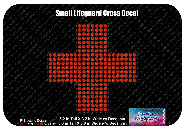 Small Lifeguard Cross Decal