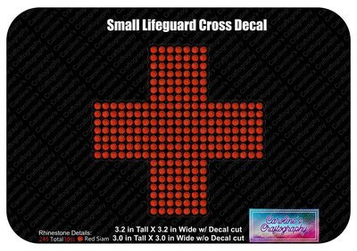 Small Lifeguard Cross Decal