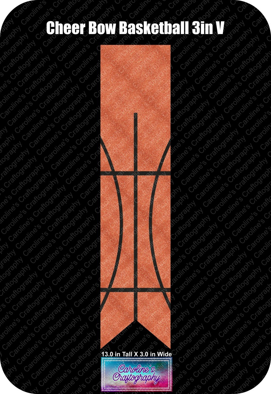 Cheer Bow Basketball 3in Vinyl