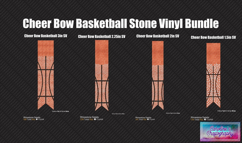 Cheer Bow Basketball Rhinestone Vinyl Bundle
