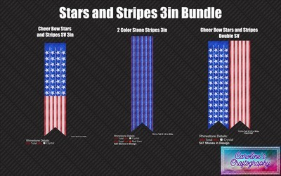 Cheer Bow Stars and Stripes Bundle