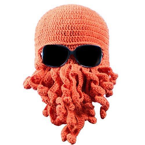 58fc1851976b4 Tentacle Octopus Cthulhu Knit Beanie Hat Cap Wind Ski Mask
