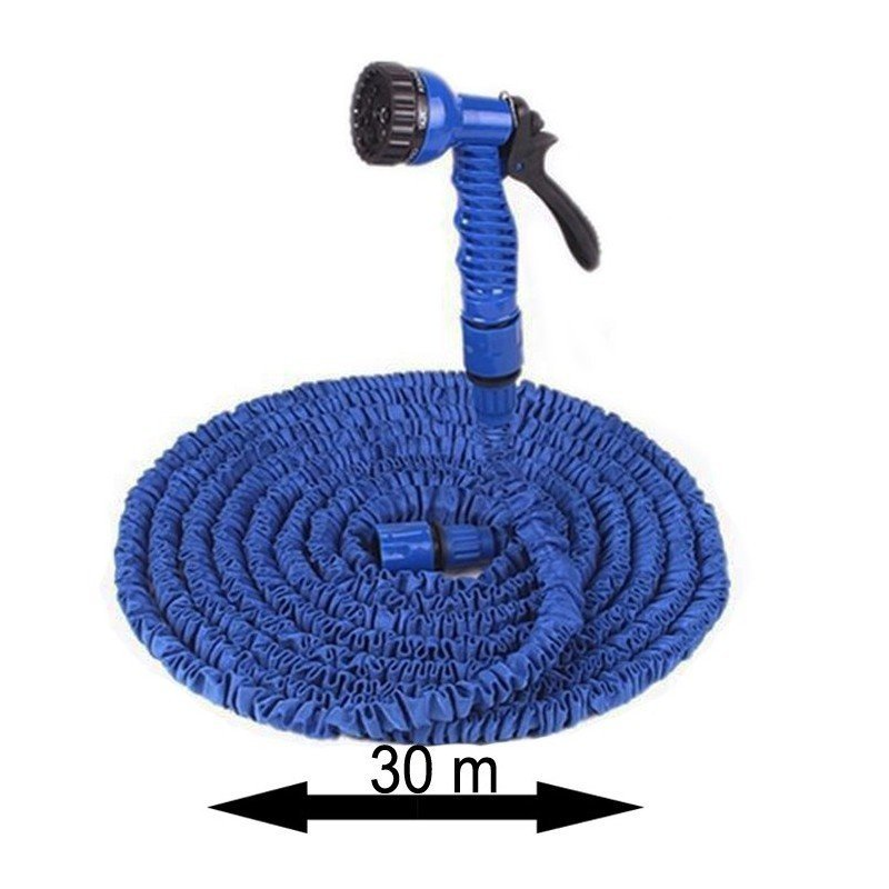 Tuyau magique avec pulvérisateur 30m -Bleu