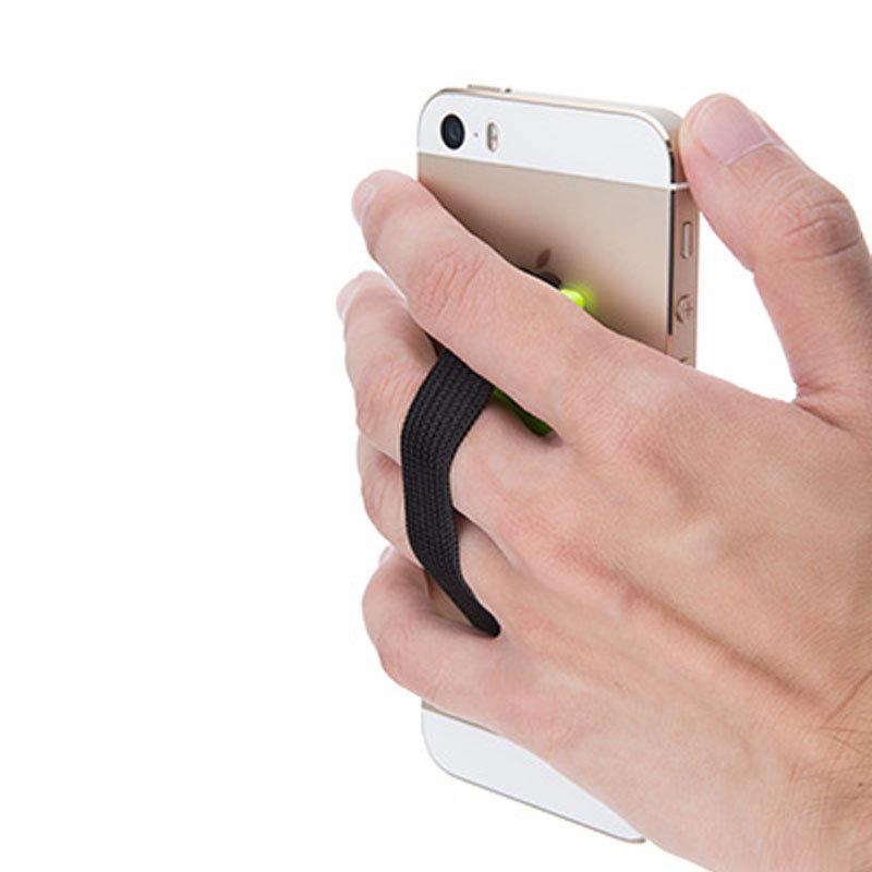 Support élastique sécurisé pour smartphones & tablettes - Noir