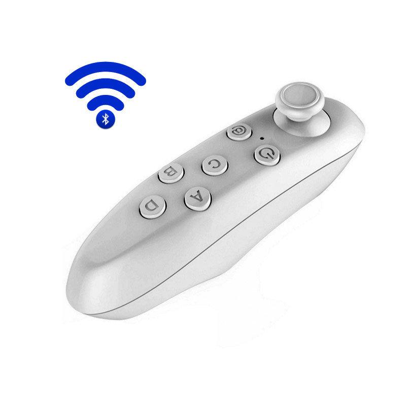 Télécommande et mini manette Bluetooth pour smartphone - Blanc
