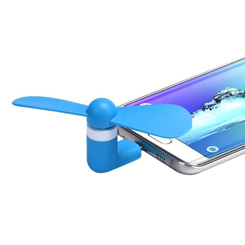 Mini ventilateur USB mobile - Bleu