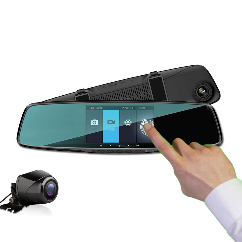 Dashcam double camera embarqué avec écran tactile HD