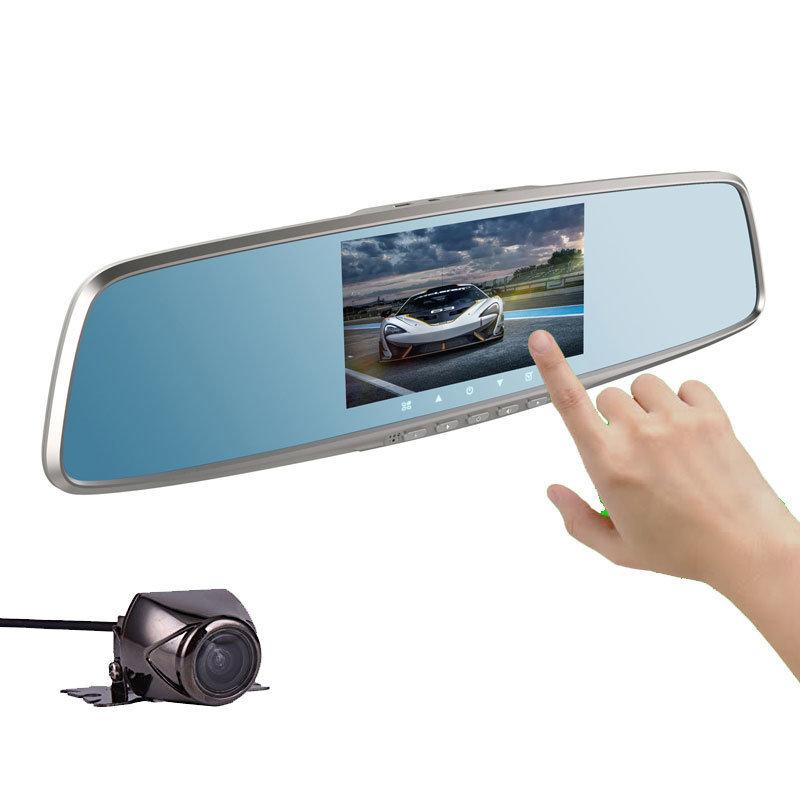 Dashcam double camera embarquée avec écran tactile
